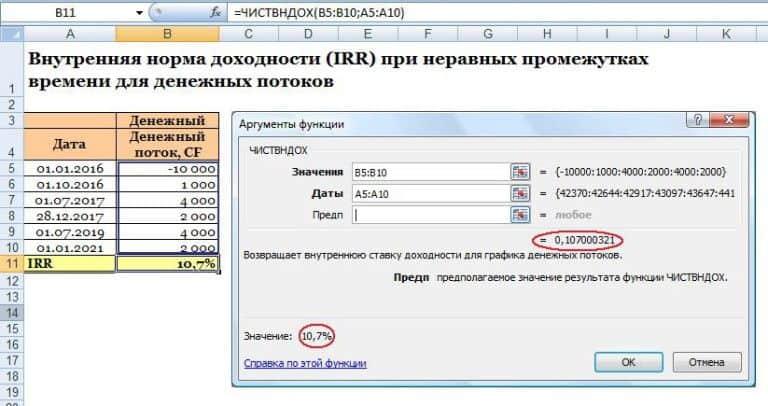 irr exaple 3 768x406.jpg.pagespeed.ce .v3ucxdgjpe - Внутренняя норма доходности на excel