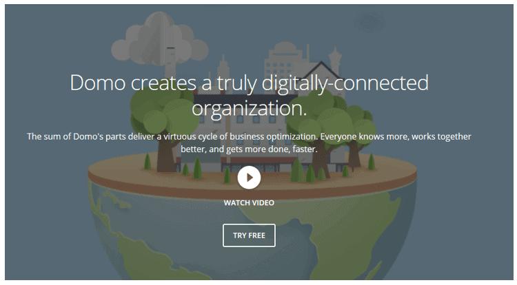 domo - 20 самых популярных инструментов бизнес-аналитики (BI)