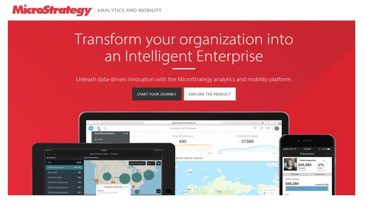 microstrategy - 20 самых популярных инструментов бизнес-аналитики (BI)