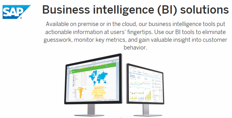 sap - 20 самых популярных инструментов бизнес-аналитики (BI)