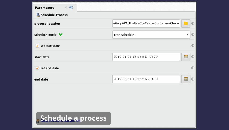 automation schedule - RapidMiner дизайнер аналитических процессов