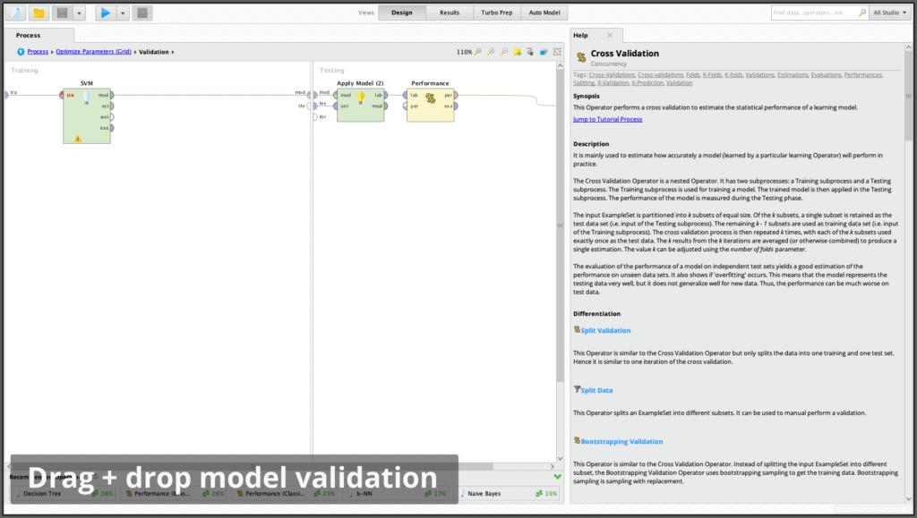 mv drag drop 1024x579 - RapidMiner дизайнер аналитических процессов