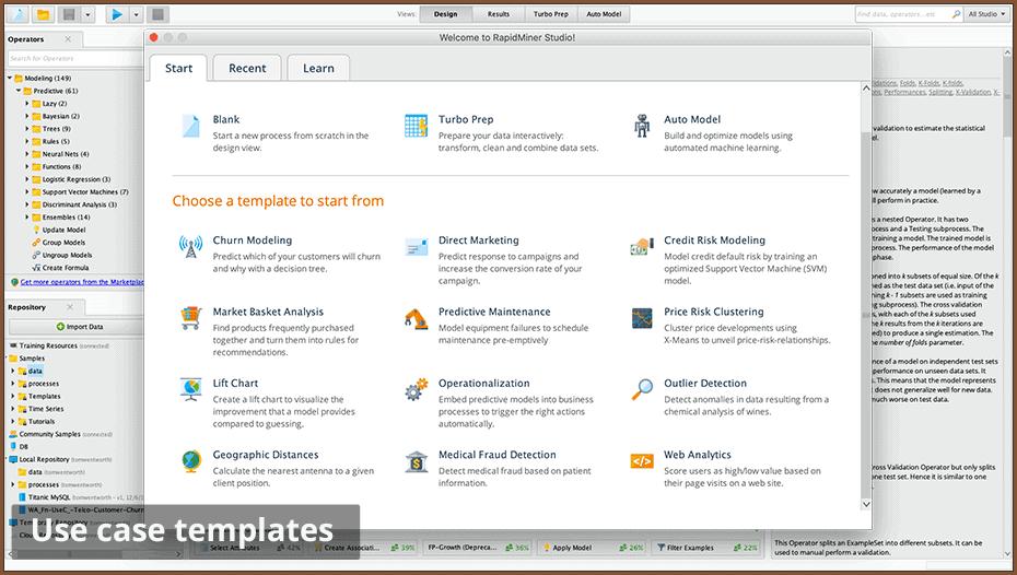 use case templates 960 - RapidMiner дизайнер аналитических процессов