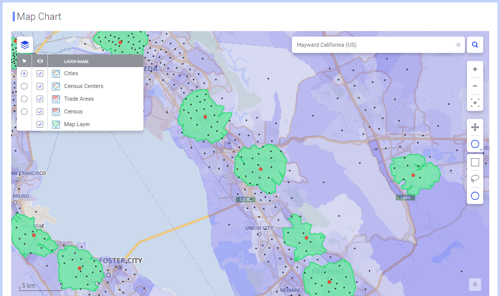 new map chart controls - Обновления TIBCO Spotfire 7.5-10.2